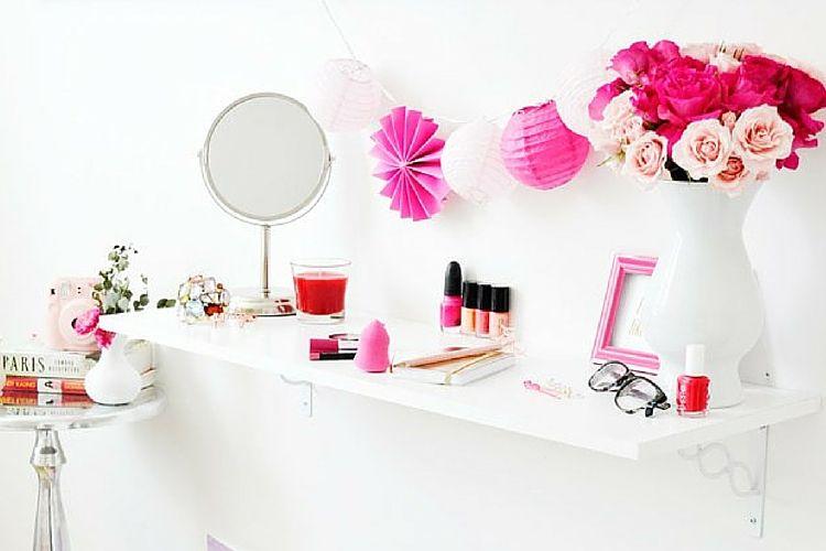 Tuto : créer un coin makeup dans un petit espace