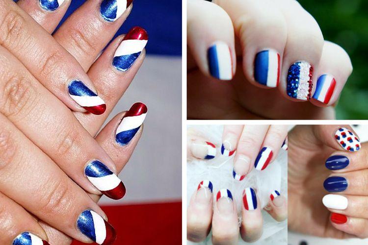 Une manucure bleu blanc rouge pour fêter l'Euro 2016