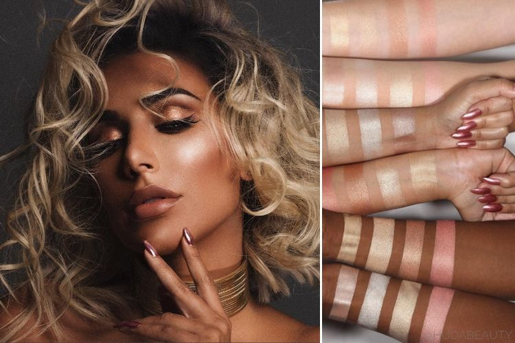 Huda Beauty lance une palette d'highlighter 3D