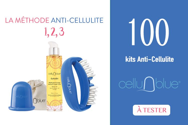 100 kits anti-cellulite CelluBlue à tester