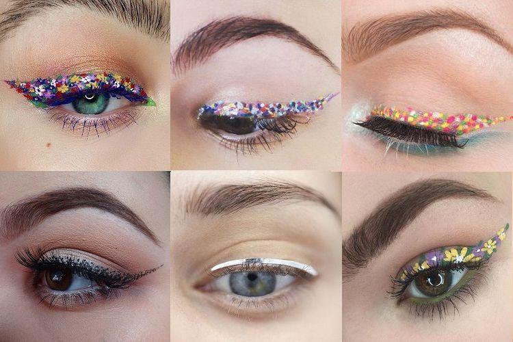 Chromé, à pois ou floral : les dernières tendances eyeliner