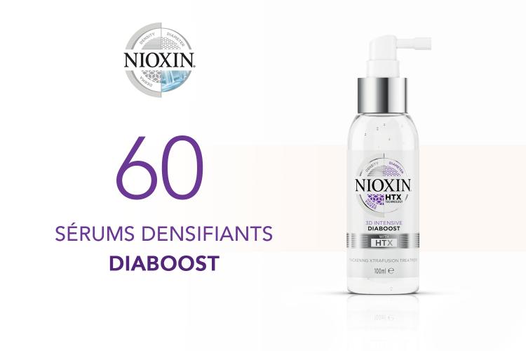 60 Sérums Densifiants Diaboost de NIOXIN à tester