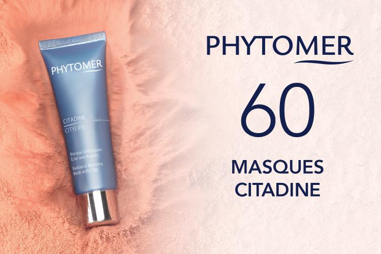 60 Masques CITADINE de PHYTOMER à tester