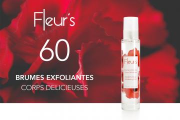 60 Brumes Exfoliantes Corps Délicieuses de Fleur's à tester