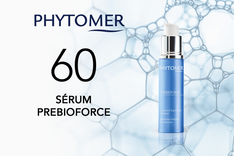 60 SÉRUMS PREBIOFORCE de PHYTOMER à tester