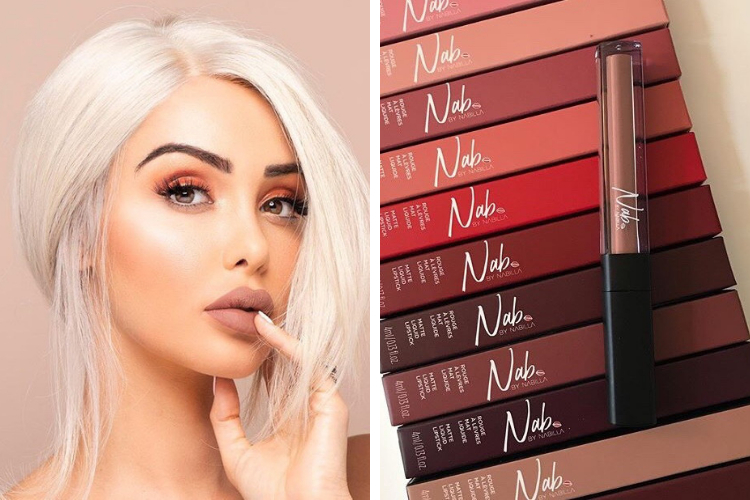 Nabilla lance sa collection de make up