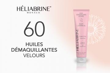 60 Huiles Démaquillantes Velours de HELIABRINE à tester