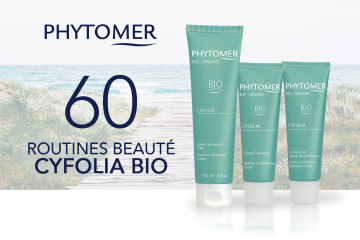 60 routines beauté CYFOLIA BIO de PHYTOMER à tester