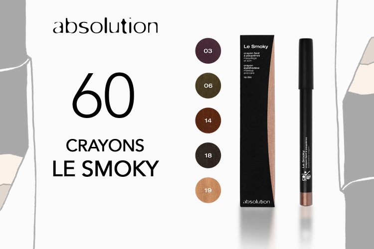 60 crayons Le Smoky d'Absolution à tester