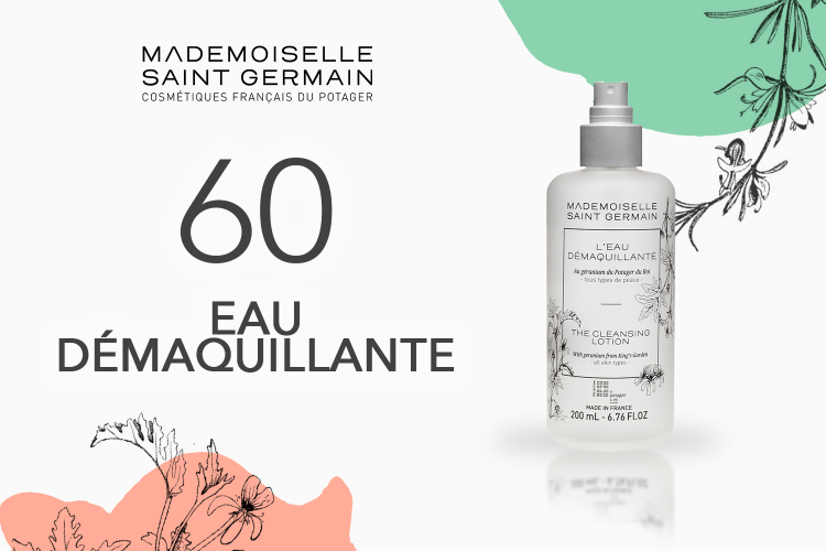 60 Eau Démaquillante de Mademoiselle Saint Germain à tester