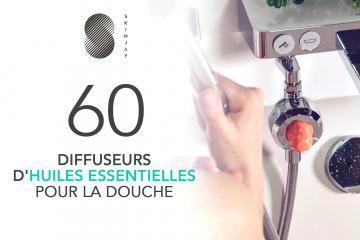 60 Diffuseurs d'huiles essentielles pour la douche de SKINJAY à tester