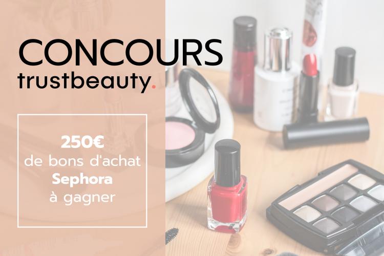 CONCOURS : Remportez 250 euros de bons d'achat Sephora !