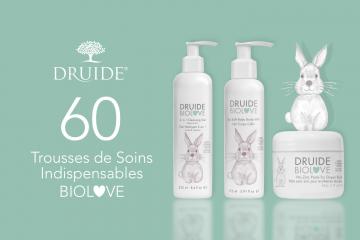60 Lots de 3 soins indispensables Druide BioLove à tester