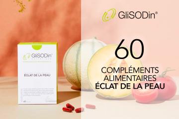 60 compléments alimentaires Éclat de la peau de GliSODin à tester