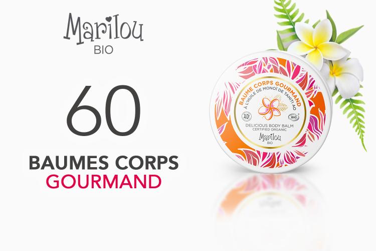 60 Baume Corps Gourmand à l'Huile de Monoï de Tahiti Marilou Bio à tester