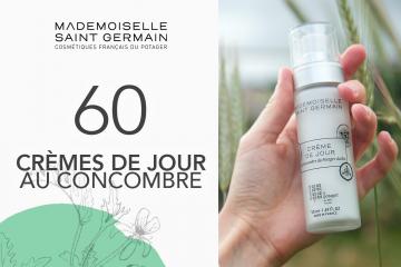 60 La crème de jour au concombre blanc de Mademoiselle Saint Germain à tester