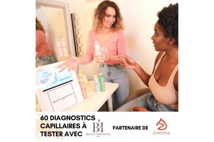 60 Diagnostics capillaires Beauté Insolente de ZAWEMA à tester