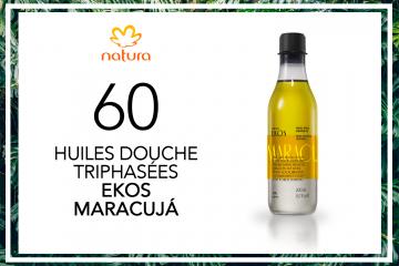 60 Huiles de douche triphasées Ekos Maracujá de Natura à tester