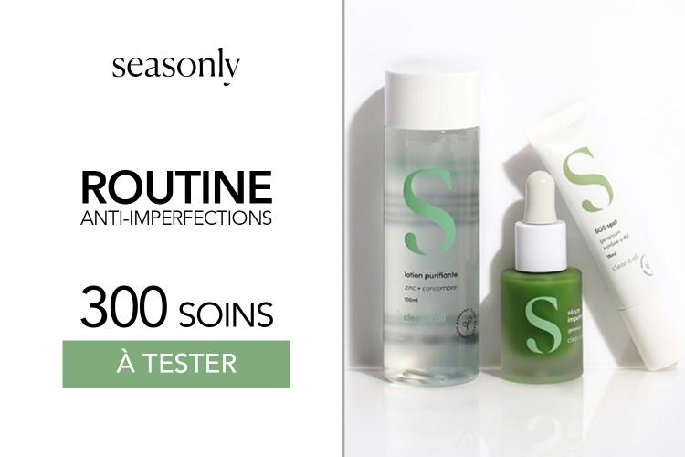 Gamme anti-imperfections de Seasonly : 300 produits à tester !