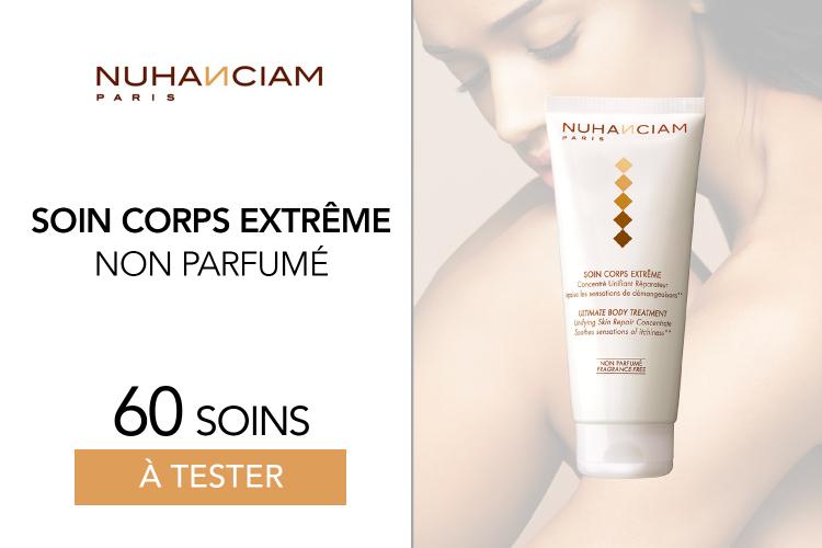 Soin Corps Extrême Non Parfumé de Nuhanciam - 60 soins à tester