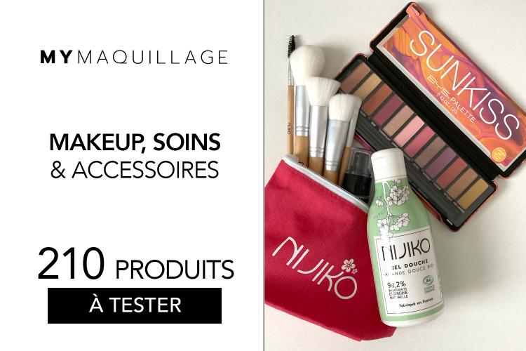 Maquillage, accessoires et gel douche de chez MY MAQUILLAGE à tester