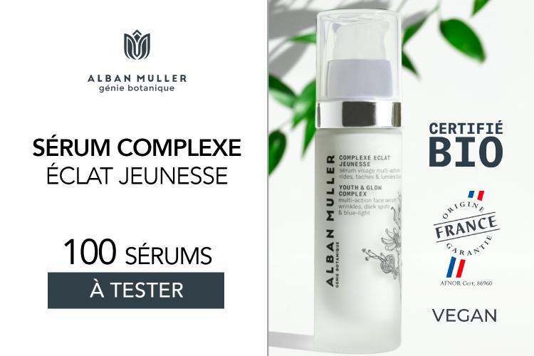 Complexe Éclat Jeunesse d'Alban Muller | Sérum visage multi-actions | 100 soins à tester !