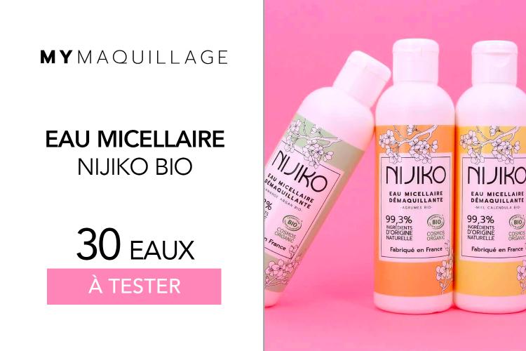 Eaux Micellaires Bio Nijiko de MY Maquillage : 30 soins à tester !