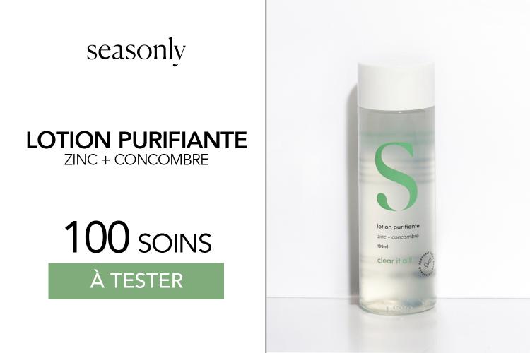 Lotions Purifiantes de Seasonly : 100 produits à tester !