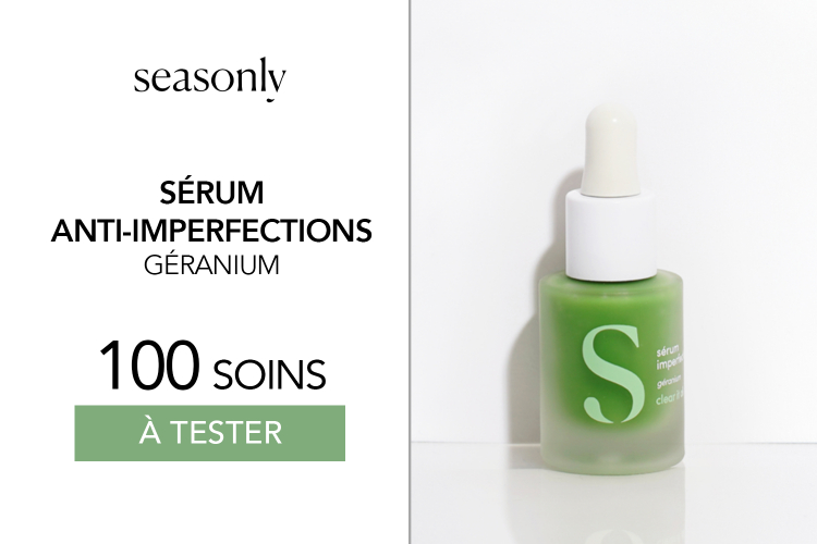 Sérum anti-imperfections de Seasonly : 100 soins à tester !