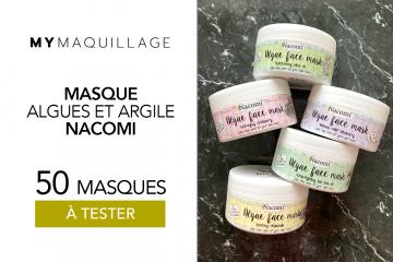 Masques Algues et Argile Nacomi de MY Maquillage : 50 soins à tester !