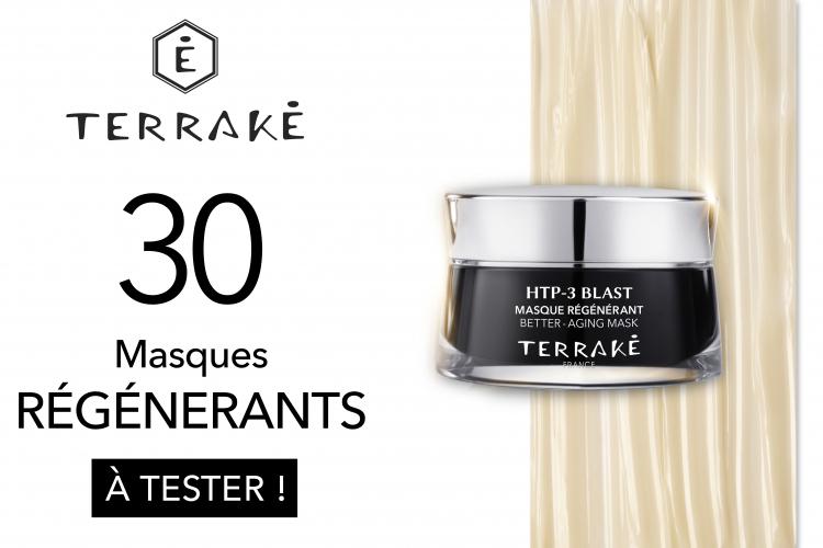 30 Masques Régénérants de TERRAKÉ à tester
