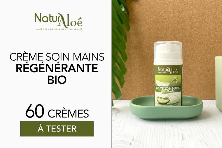 60 Crème Soin Mains Régénérante bio de NaturAloé à tester