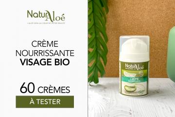 60 Crème Nourrissante Visage bio de NaturAloé à tester