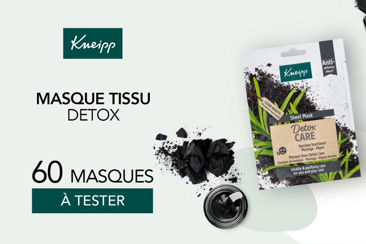 Masque tissu détox de Kneipp : 60 masques à tester !