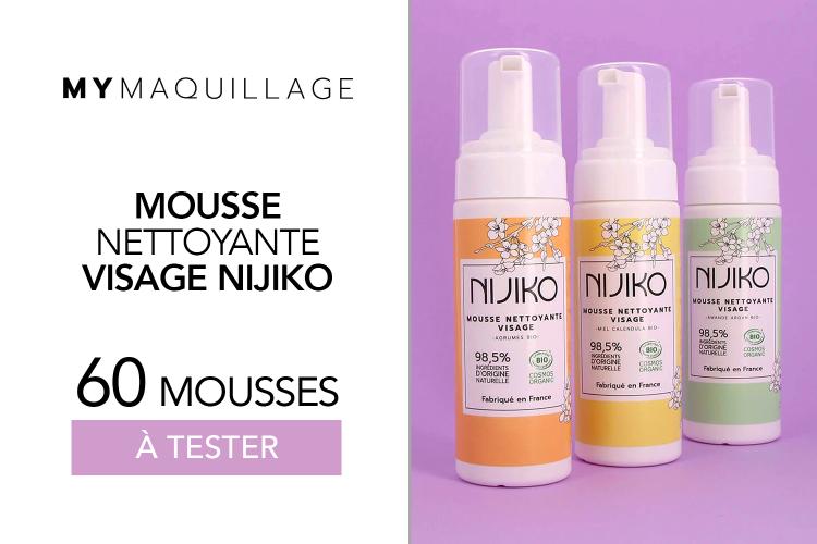 Mousses Nettoyantes Visage Nijiko de MY Maquillage : 60 produits à tester !
