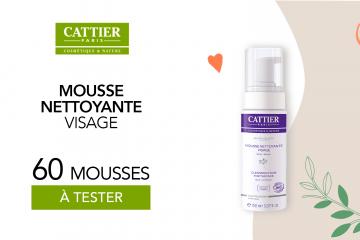 Mousse nettoyante de Cattier à tester : 60 produits à tester !