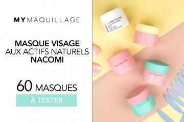 Masques Visage aux actifs naturels Nacomi : 60 produits à tester !