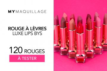 Rouges à Lèvres Luxe Lips BYS : 120 produits à tester !