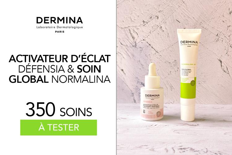 350 soins de chez Dermina à tester : l'activateur d'éclat et le Soin Global NORMALINA