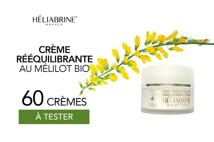 60 crèmes rééquilibrantes au Mélilot bio de HELIABRINE à tester
