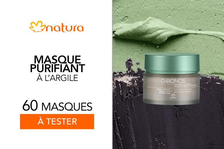 60 Masque purifiant à l'argile Chronos de Natura à tester