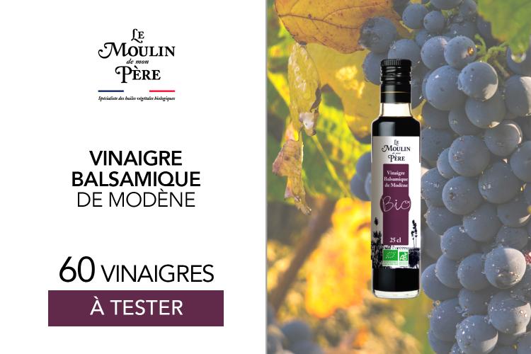 60 Vinaigre balsamique de Modène de Le Moulin de mon Père à tester