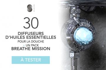30 DIFFUSEURS D'HUILES ESSENTIELLES POUR LA DOUCHE ET SON PACK BREATHE MISSION de SKINJAY à tester