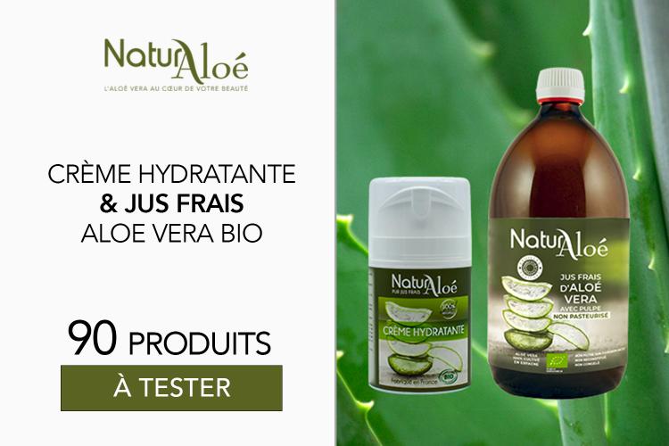 Jus Frais et Crème Hydratante de NaturAloé : 90 produits à tester !