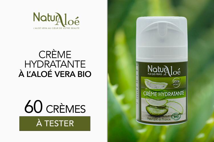 Crèmes Hydratantes visage bio de NaturAloé : 60 soins à tester !