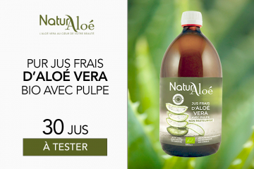 Jus Frais d'Aloé Vera bio de NaturAloé : 30 Jus à tester !