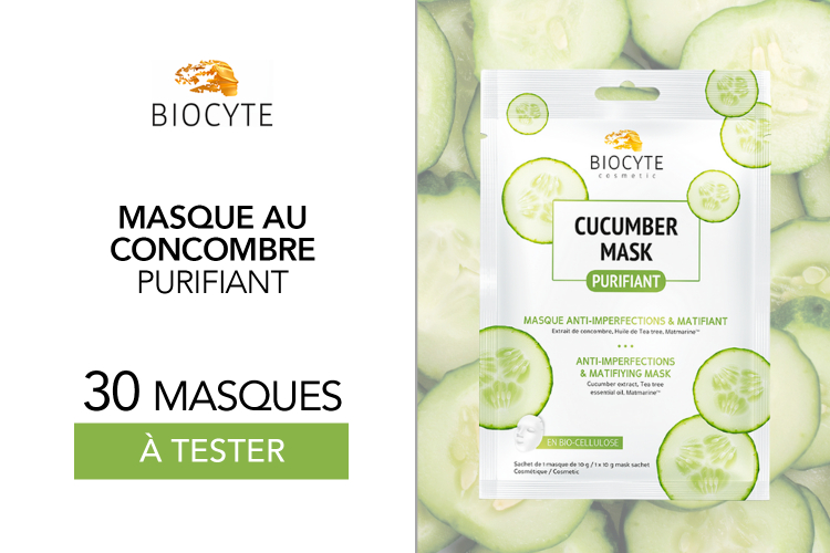 30 Cucumber Mask de chez Biocyte à tester !