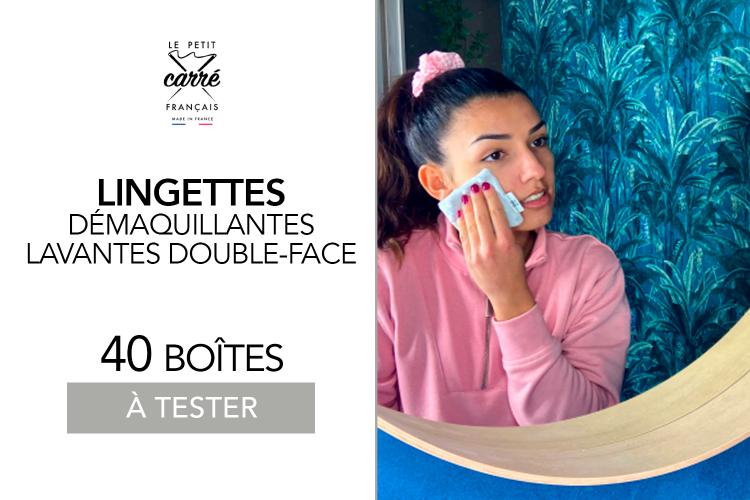 40 Boîtes de 3 Lingettes démaquillantes lavables double face