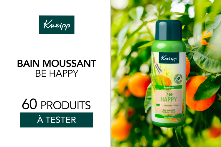 60 Bains moussants Be happy à tester !