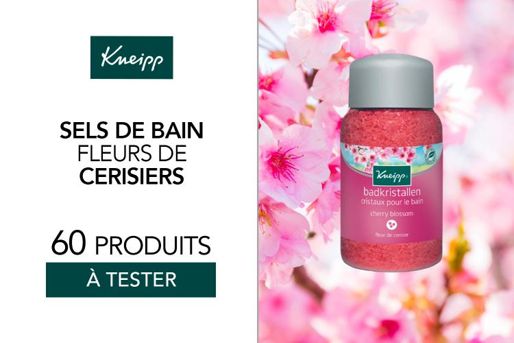 60 Sels de bain Fleurs de cerisier à tester !